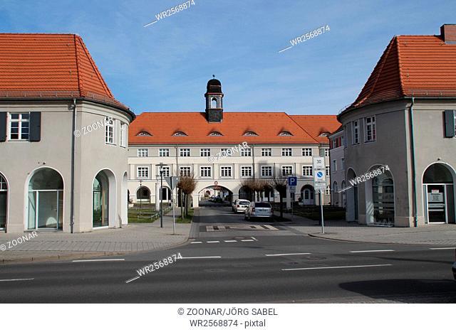 A street gate in Zschornewitz
