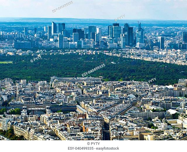 View of La Defense from Eiffel Tower (Paris, France)