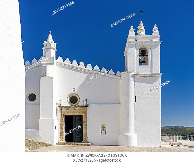 The church of Mertola, a former Mosque dating back to the moorish times. Mertola on the banks of Rio Guadiana in the Alentejo
