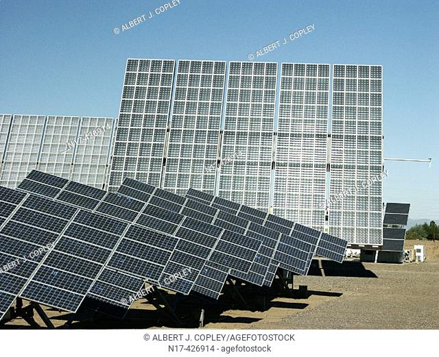 Photovoltaic array, power supply. Phoenix, Arizona. USA