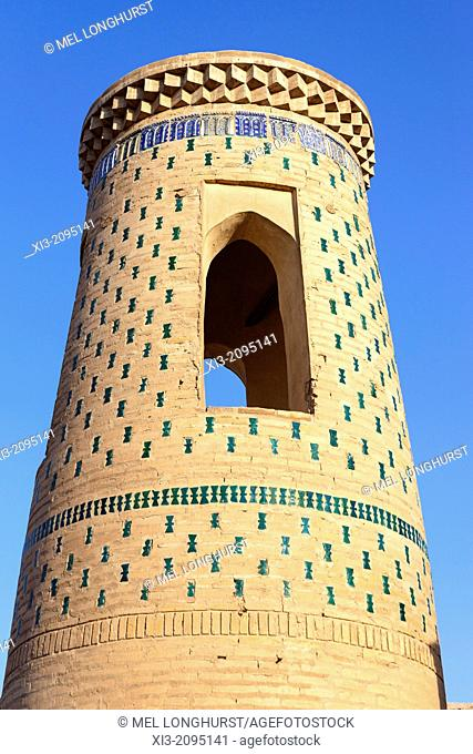 Tura Murad Tura Minaret, also known as Toramurod Tora Minorasi, Ichan Kala, Khiva, Uzbekistan