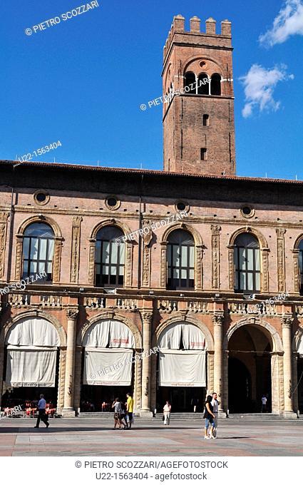 Bologna (Italy): Palazzo del Podestà, Piazza Maggiore