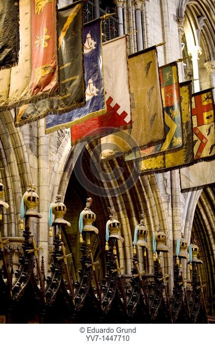 Detail of the choir in 'St  Patrick' Cathedral  Dublin, Leinster, Ireland, Europe