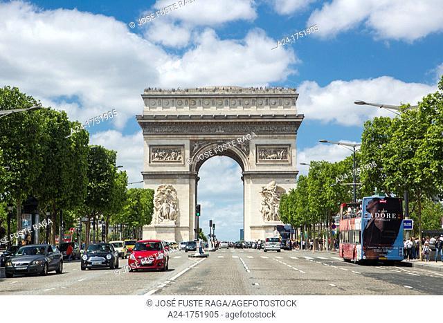 Arc de Triomphe, Champs Elysees Avenue, Paris, France