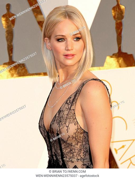 Celebrities attend 88th Annual Academy Awards at Hollywood & Highland Center in Hollywood. Featuring: Jennifer Lawrence Where: Los Angeles, California