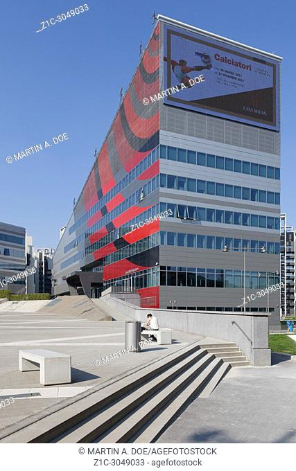 Casa Milan, a new building that hosts the main offices of Milan Football Club. Milan, Italy