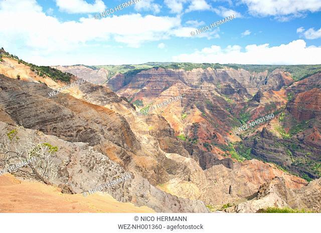 USA, Hawaii, View of Waimea Canyon
