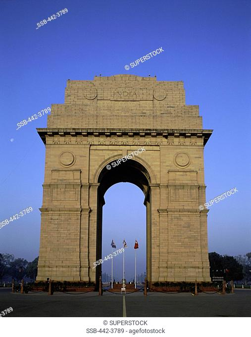Facade of the India Gate, New Delhi, India
