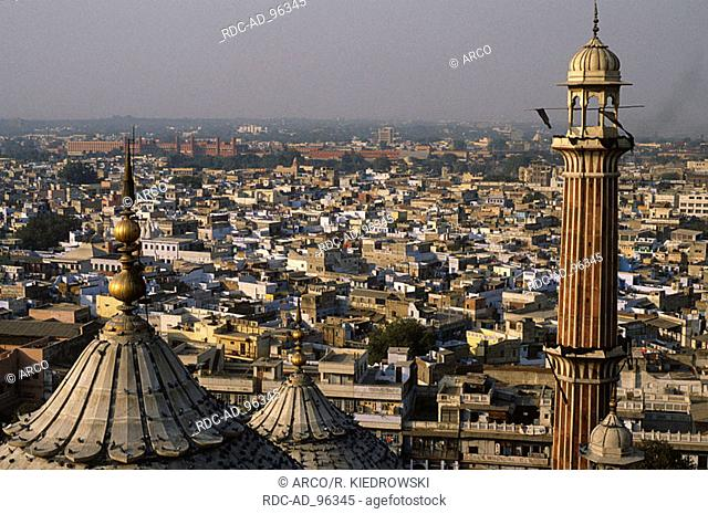View from the Jama Masjid Mosque on New Delhi India New Dehli