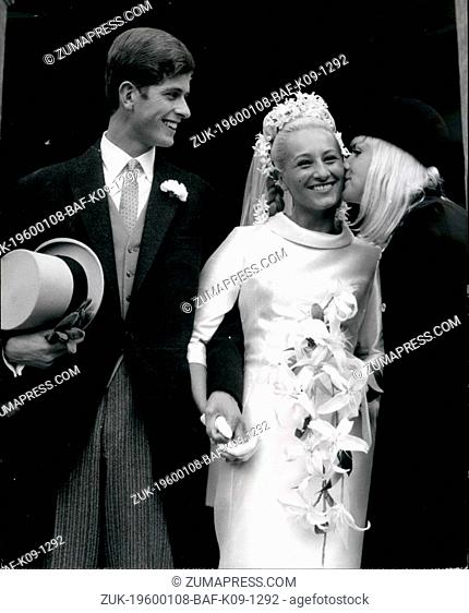1968 - Society Wedding at Invalids Chapel Princess Swimmer Weds Count.Princess is a Belle Poniatowska, One of the Top French Girl Swimmers