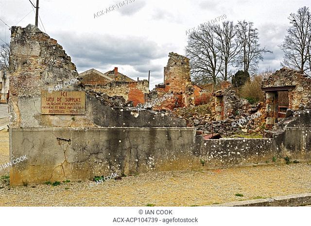 Oradour-sur-Glane, Haute-Vienne Department, Limousin, France