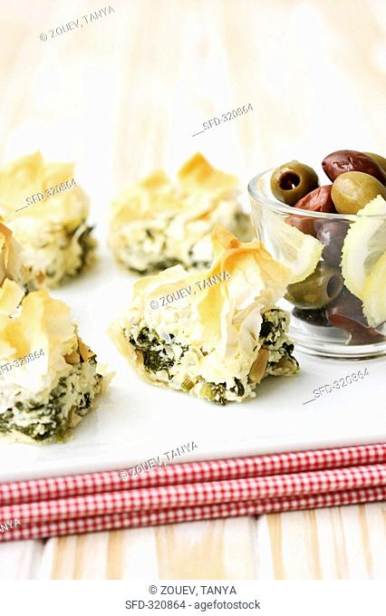 Spanakopita Spinach and sheep's cheese pie, Greece