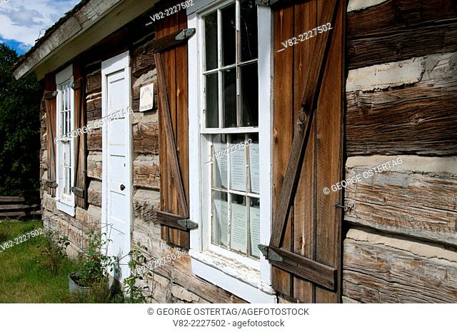 Wild Horse Plains Log Schoolhouse (1878), Plains, Montana