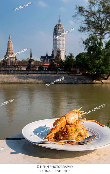 River prawn on pomelo salad, Phra Nakhon Si Ayutthaya, Bangkok