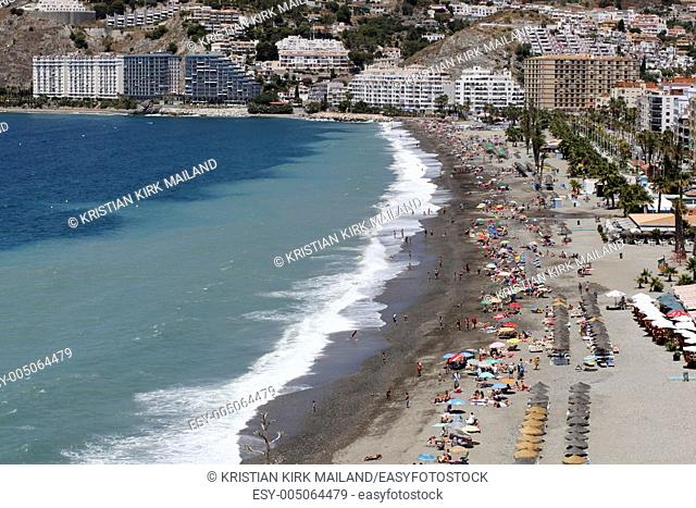Beach San Cristobal, Almunecar, Spain