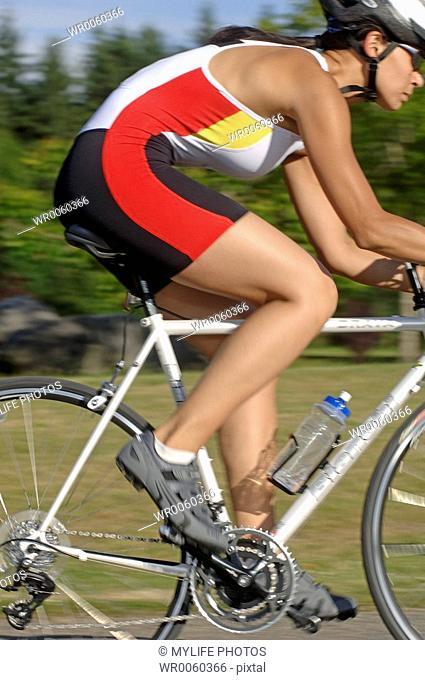 cycling close-up