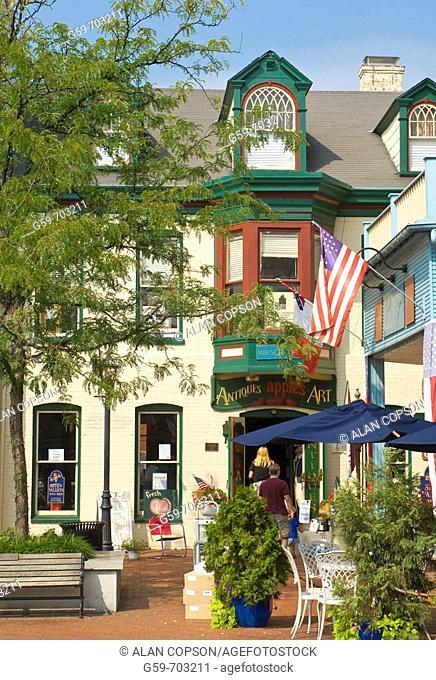 Pennsylvania Gettysburg Historic Downtown. Usa