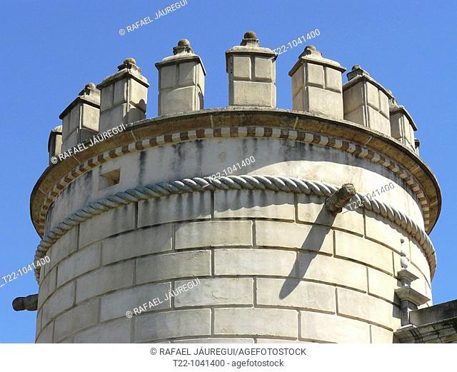 Badajoz España  Detalle de la antigua Puerta de Palmas en la ciudad de Badajoz  Details of the former Puerta de Palmas in the city of Badajoz