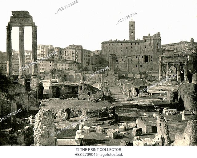 General view of the Forum, Rome, Italy, 1895. Creator: W & S Ltd