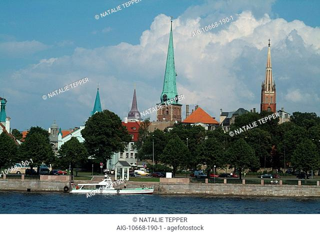 Old Town view from Daugava River, Riga