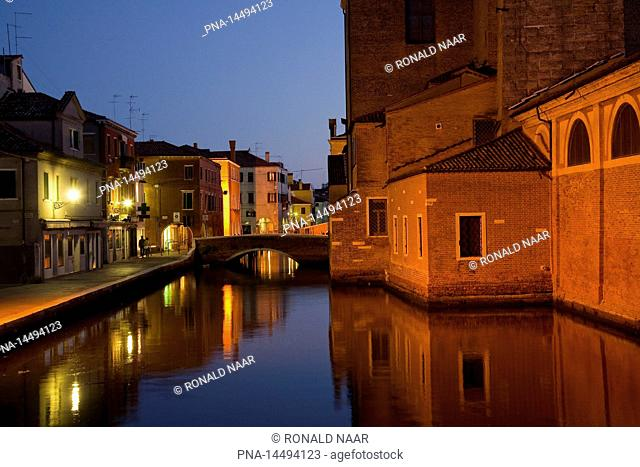 Canal Vena, the town of Chioggia, port at the Laguna Veneta, province of Venice, Veneto, Italia