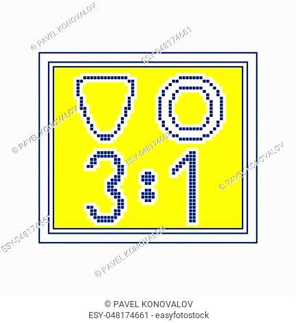 Icon of football scoreboard. Thin line design. Vector illustration