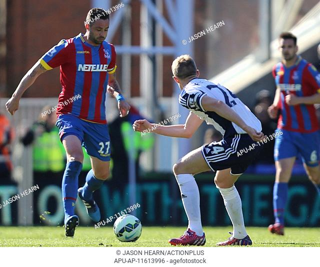 2015 Barclays Premier League Crystal Palace v West Brom Apr 18th. 18.04.2015. London, England. Barclays Premier League. Crystal Palace versus West Bromwich...