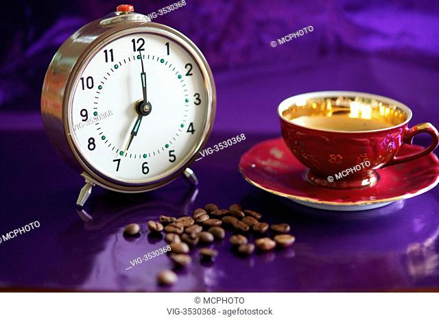 it is seven oclock, get up and have a cup of coffee - 01/01/2013