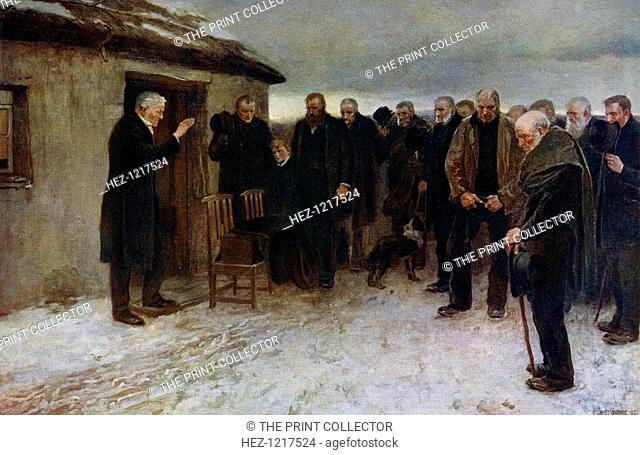 'A Highland Funeral', 1882, (1912). A colour print from Famous Paintings with an Introduction by Gilbert Chesterton, Cassell and Company, London, New York