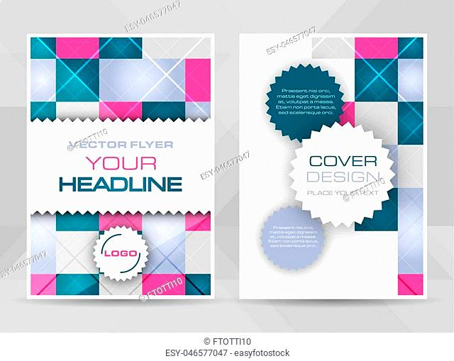 Flyer design A4 size cover brochure template or corporate banner. Vector illustration