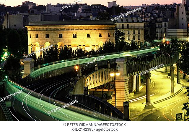 light trace of a subway, France, Paris