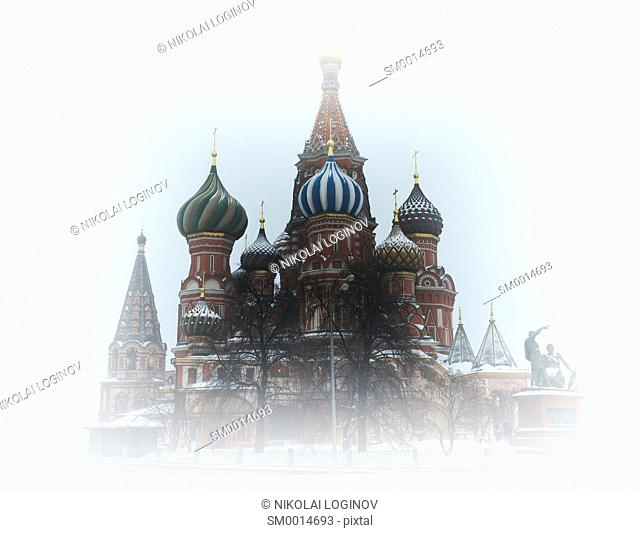 Saint Basil's Cathedral vignette background hd