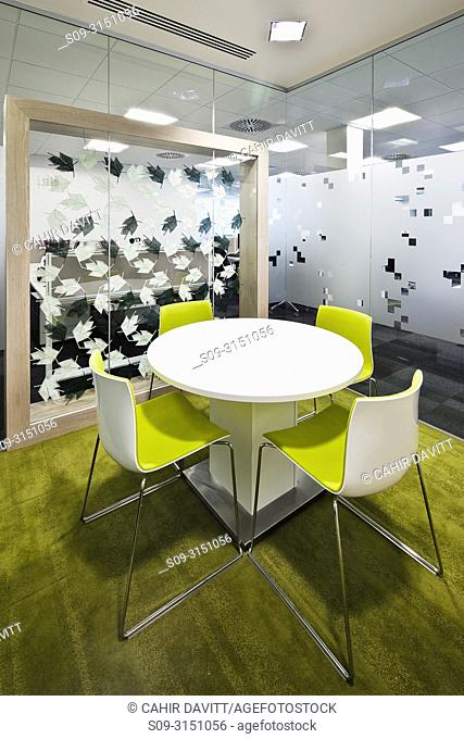Contemporary styled modern desk and chair unit