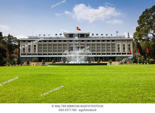 Vietnam, Ho Chi Minh City, Reunification Palace, former seat of South Vietnamese Government, exterior