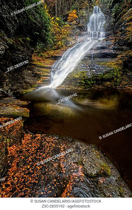 Dingmans Falls - It is part of the Delaware Water Gap (DWG) and It is located at Dingmans Ferry, Pike County, Pennsylvania. USA