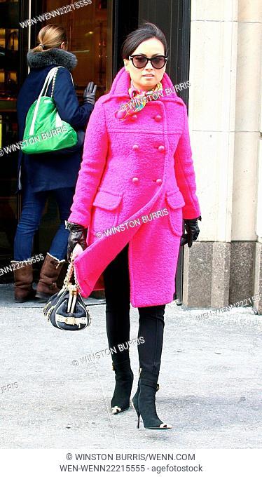 Singer Ha Phuong leaves Bergdorf Goodman on Fifth Avenue Featuring: Ha Phuong Where: Manhattan New York, New York, United States When: 20 Feb 2015 Credit:...