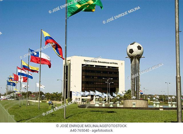 Paraguay. Asunción city. Headquarters of the  Southamerican Football Confederation