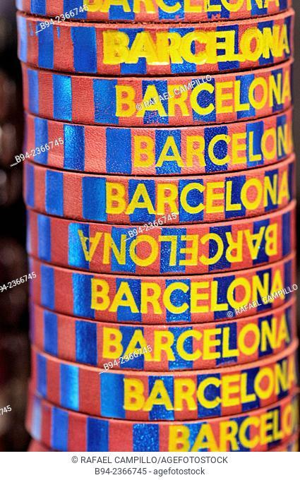 Barcelona souvenirs, Barcelona, Catalonia, Spain