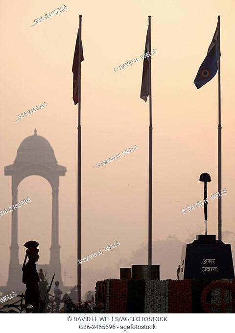 Amar Jawan Jyoti, India Gate, New Delhi, India