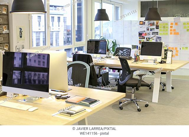Empty office. Advertising agency
