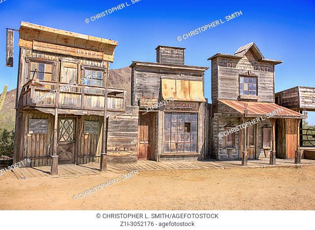 Stage 2 film set buildings at the Old Tucson Film Studios amusement park in Arizona