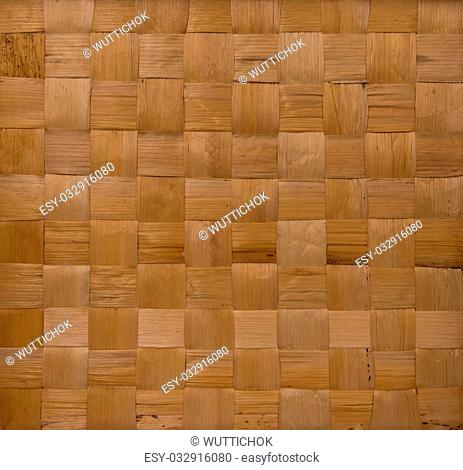 background and texture of brown handicraft weave banana fiber surface