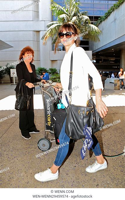 Felicity Jones arrives in Los Angeles with her doggy Featuring: Felicity Jones Where: San Diego, California, United States When: 31 Aug 2016 Credit: WENN