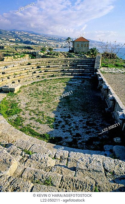 Roman amphitheatre. Byblos archaeological site. North Coast of Beirut city. Lebanon