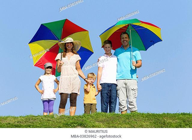 Family, 5 people, summer, vacation, family photo, Butjadingen, sunshades