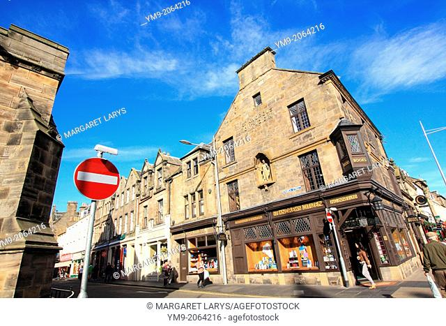 Church Street, Old, historic architecture in the streets of St Andrews, Scotland, Fife, Great Britain, Europe