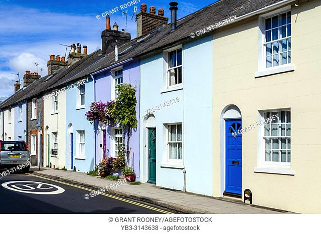 Colourful Houses, Lewes, East Sussex, UK