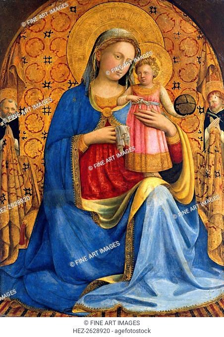 Madonna and Child with Saints Dominic and Peter Martyr (Madonna dell' Umilitá), ca. 1433. Artist: Angelico, Fra Giovanni, da Fiesole (ca. 1400-1455)