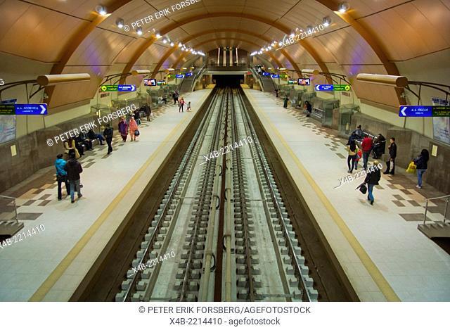New metro line 2 station Serdika 2, central Sofia, Bulgaria, Europe