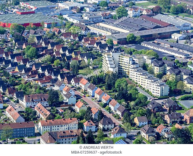 Housing area, town of Celle, Lower Saxony, Germany
